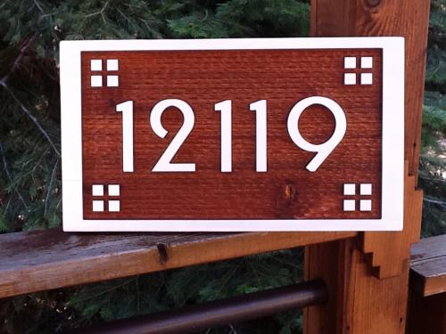 Arts & Crafts Street Address Sign - $150