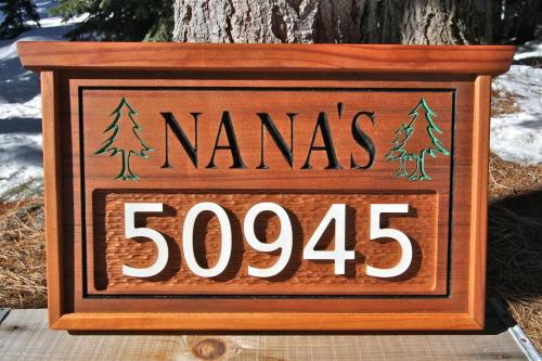 Name and Street Number Sign - $180