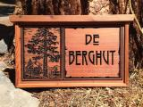Cabin Name Sign Redwood - $160