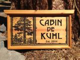 Cabin Name Sign - $160